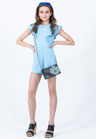 Addy Smocked Puff Sleeves Romper