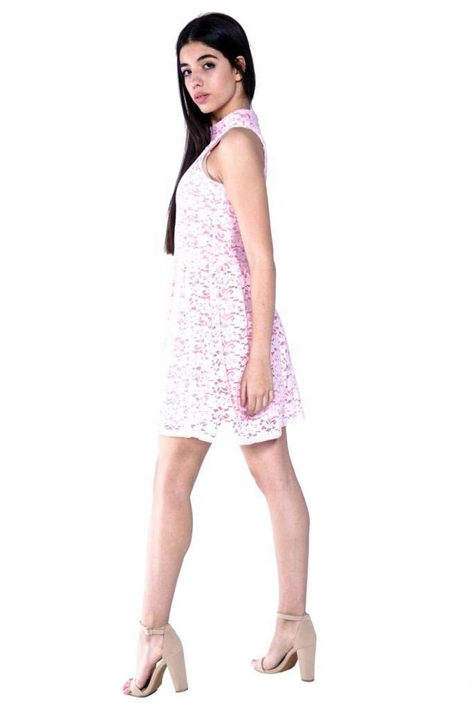 Hailee Lace Fit & Flare Dress - Dress - Teen Girls Clothing fashion - Miss Behave Girls