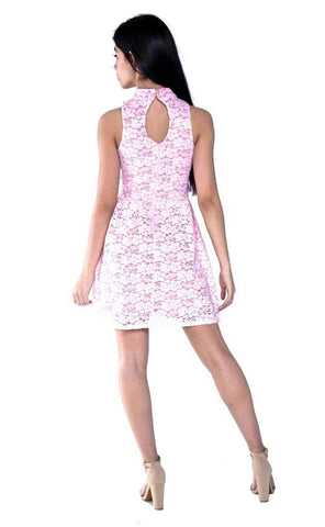 Hailee Lace Fit & Flare Dress - Dress - Tween Girls Clothing - Miss Behave Girls