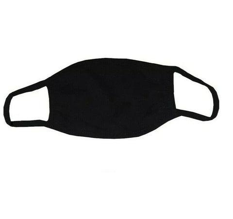 Face Mask Nose Mouth Cover Adjustable Reusable Washable Elastic Fabric Mask BLACK