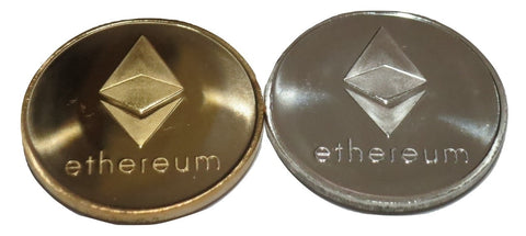 Set of Gold and Silver Plated Color Ethereum Coins ETH Physical Cryptocurrency Collectible Coins by TrendyLuz