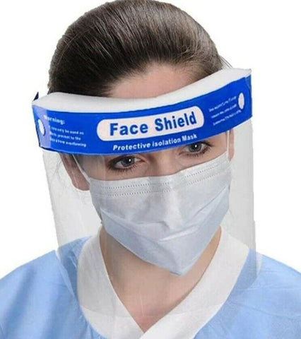 Safety Face Shield Clear Full Face Guard Visor Protector Cover Reusable
