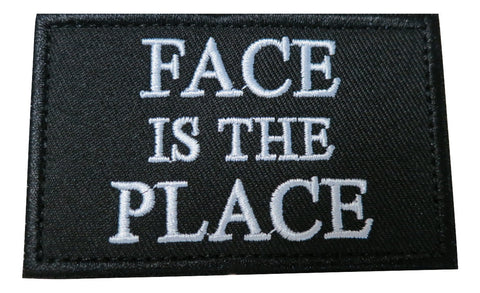 Face Is The Place Morale Tactical Gaming Embroidered Velcro Patch