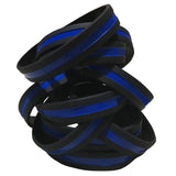 Thin Blue Line Silicone Wrist Band Bracelet Wristband - Support Police and Law Enforcement