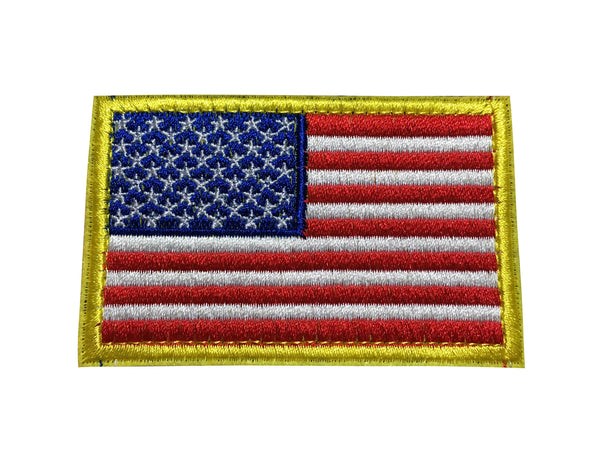 Red/White/Blue Tactical American USA Flag Patch, Embroidered Velcro Patch US Military Police Firefighter