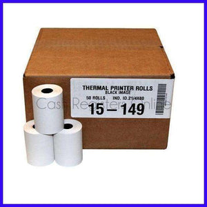 2 1/4'' by 42' Thermal Paper Rolls - Cash Registers Online