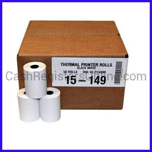 "2 1/4"" x 80' Thermal Credit Card Paper - Cash Registers Online"