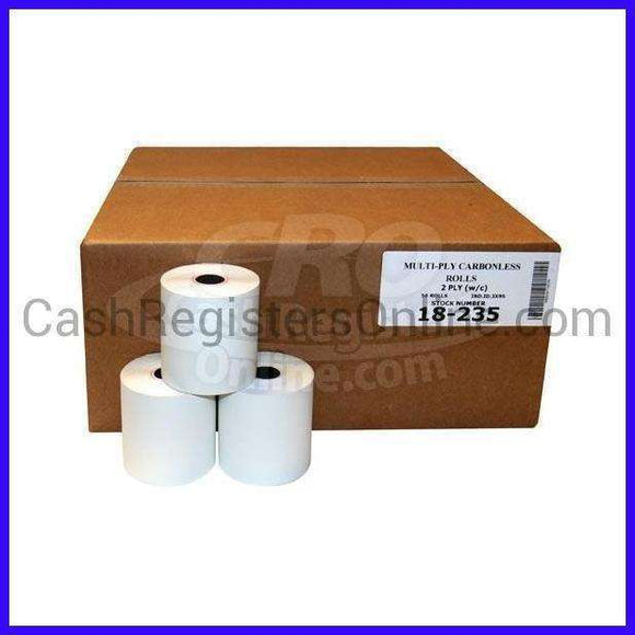 3'' x 90' 2 Ply Bond Paper - Cash Registers Online