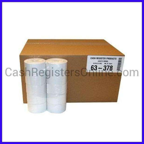 38mm x 165' Bond Cash Register Paper Rolls - 100 rolls-Cash Registers Online