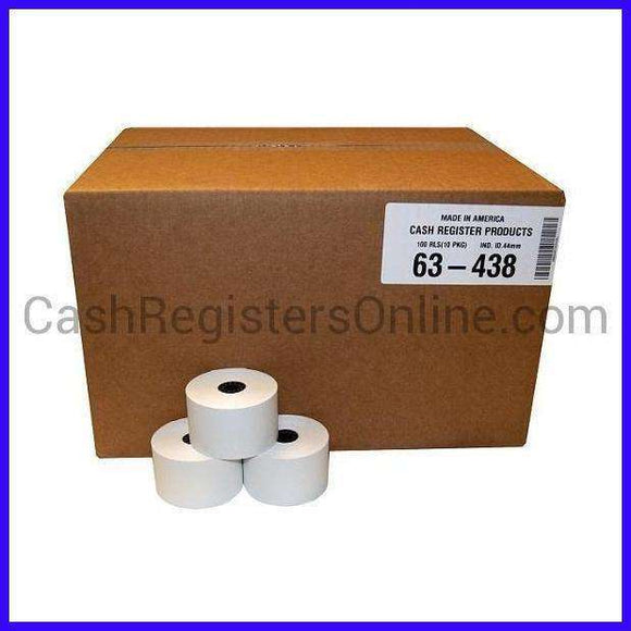 44mm x 165' Cash Register Bond Paper - 100 rolls-Cash Registers Online