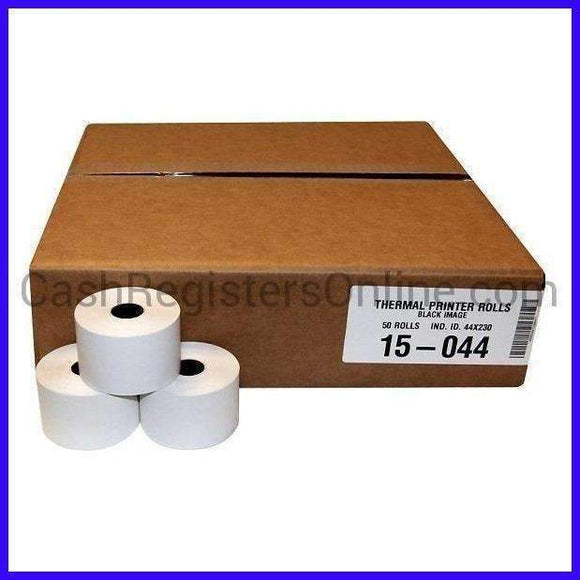 44mm x 230' Thermal Cash Register Paper Rolls - Cash Registers Online