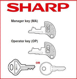 Sharp Cash Register Key - XE-A Model Registers - OP, MA, Drawer