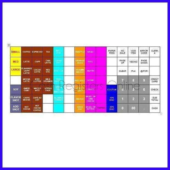 Cash Register Keyboard Template - Design and Print with Word - Cash Registers Online