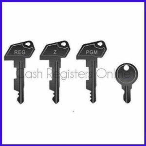 Royal Cash Register Key Set - Reg, Z, P, Drawer Keys - Cash Registers Online