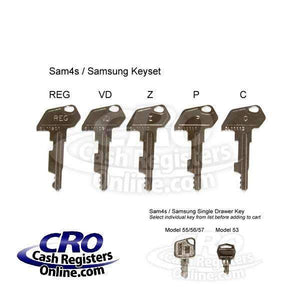 SAM4s and Samsung Cash Register Key Set-Cash Registers Online