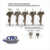 SAM4s and Samsung Cash Register Keys - Single Key-Cash Registers Online