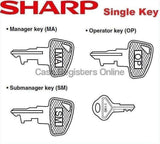 Sharp ER-A Cash Register Single Key - OP, SM, MA or Drawer - Cash Registers Online