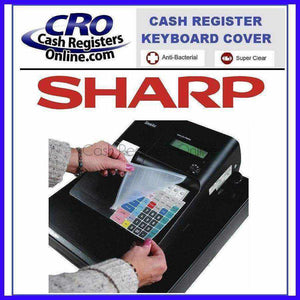 Sharp XE-A Series Cash Register Keyboard Covers - Antibacterial Silicone Wetcover - Cash Registers Online