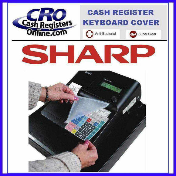 Sharp XE-A Series Cash Register Keyboard Covers - Antibacterial Silicone Wetcover-Cash Registers Online