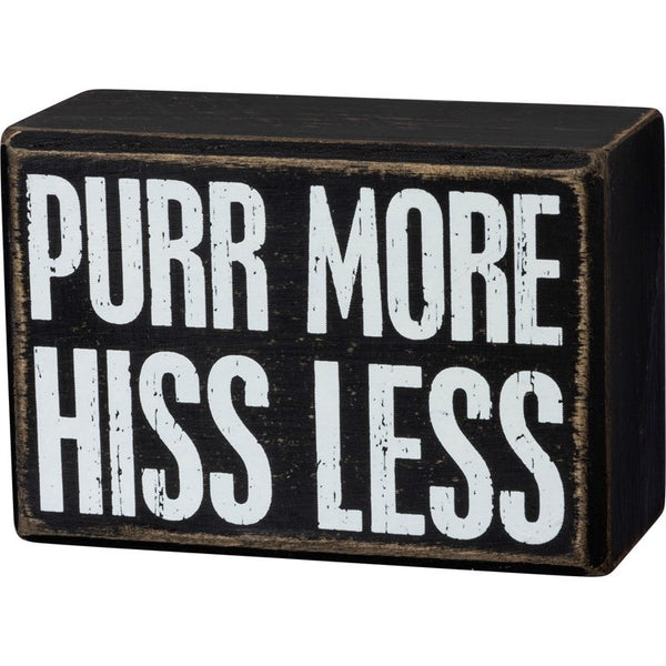 104065 Box Sign - Purr More