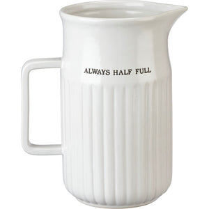 104386 Large Pitcher - Half Full