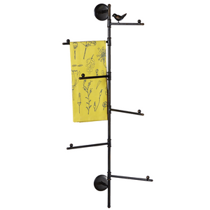 114142 Multi Towel Rack with Bird