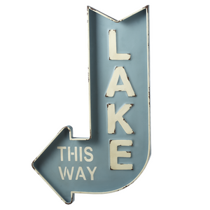 "127369 ""Lake This Way"" Arrow Sign"