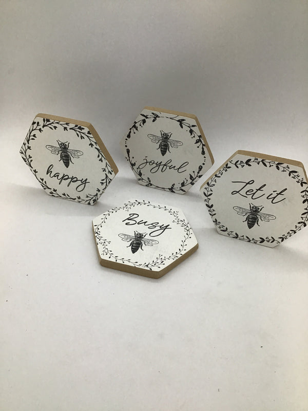 18545 Wood Bee Coaster
