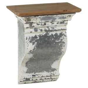 158127 Distressed White Galvanized