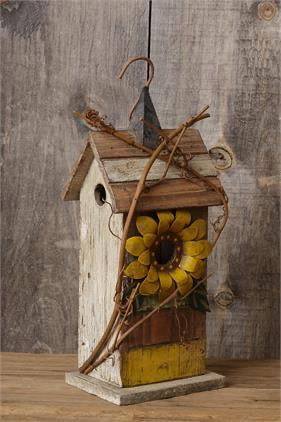 8W2426 Birdhouse Sunflower