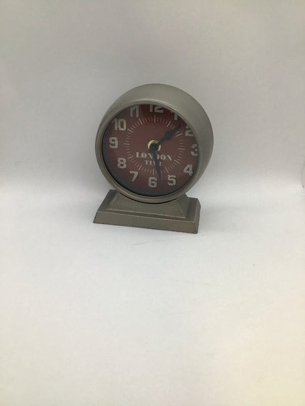 "BC1017 MTL. TABLE CLOCK ""LONDON"""