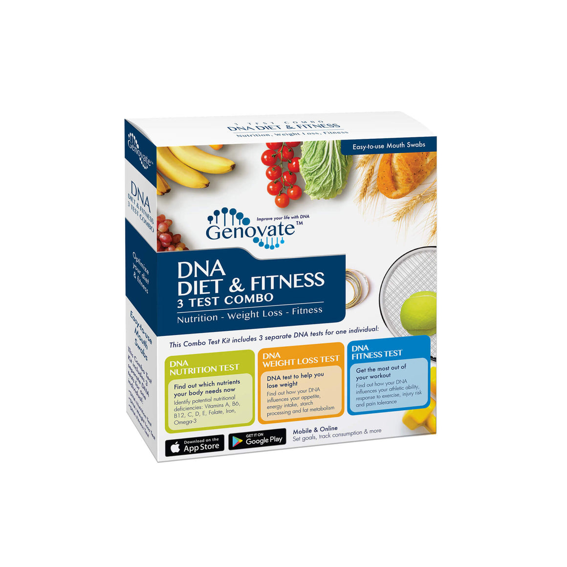 DNA Diet & Fitness 3 Test Combo - Precision Lab Works