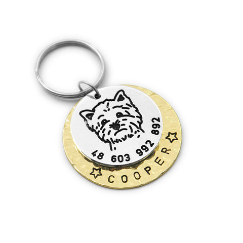 Custom Yorkie Terrier Dog Tag KeyChain