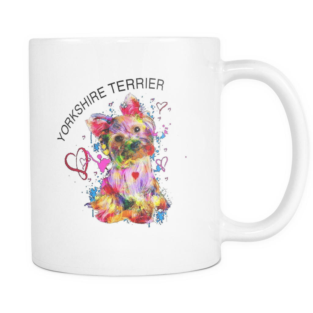Colorful Yorkshire Terrier Coffee Mug