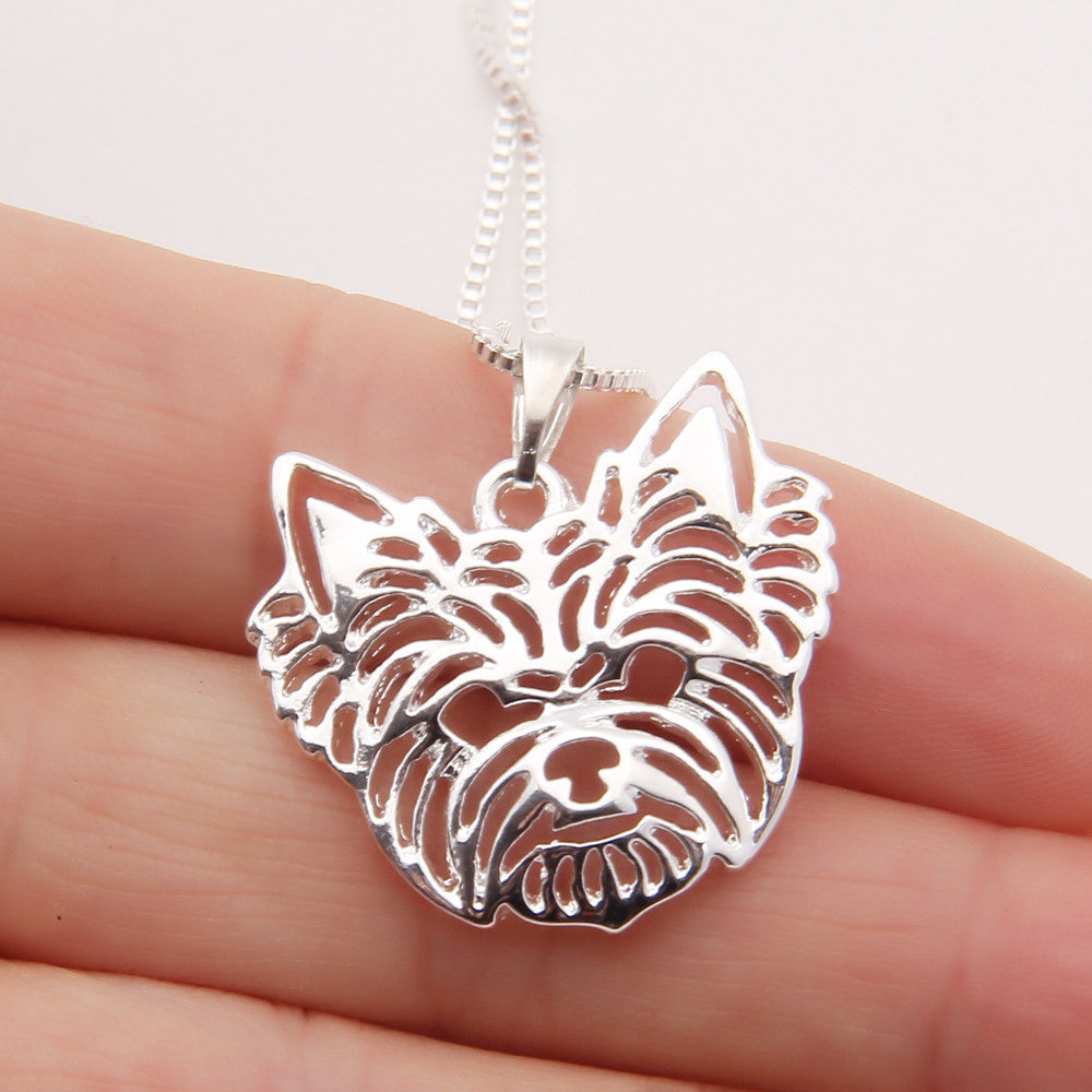 Yorkshire Terrier Necklace Face 3D