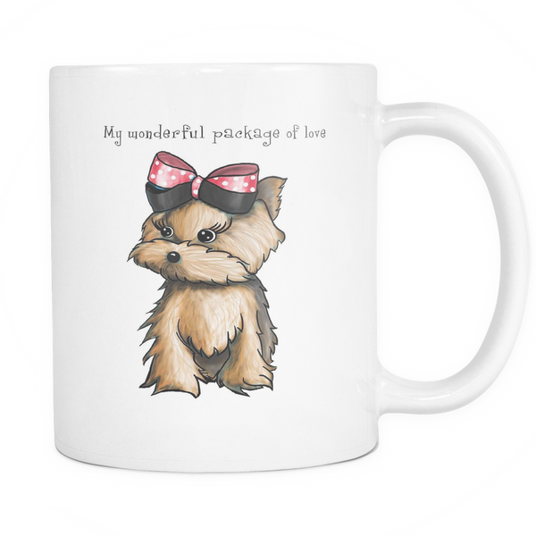 Yorkie My Wonderful Package Of Love Coffee Mug