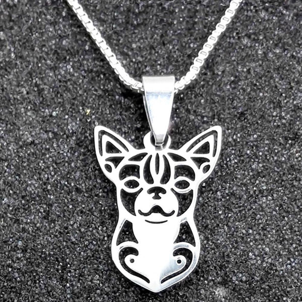 Silver Chihuahua Necklace