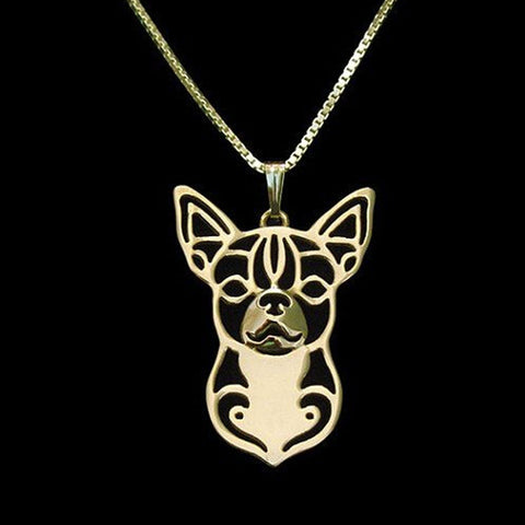 Boho Chic Alloy Chihuahua necklace
