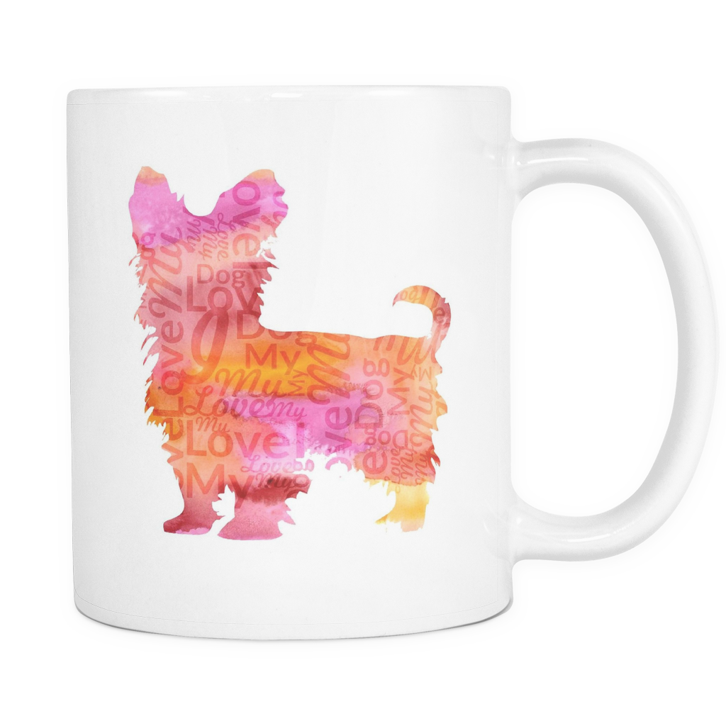 Colorful Yorkie Coffee Mug