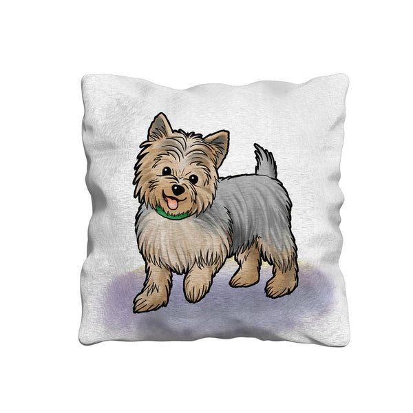 Cute Cartoon Yorkshire Terrier