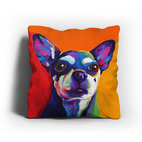 Colorful Chihuahua Painting Pillow