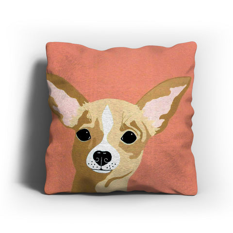Chihuahua Illustration Pillow