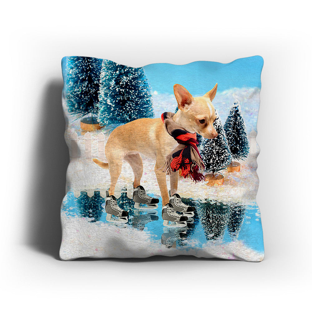 Christmas Chihuahua Pillow