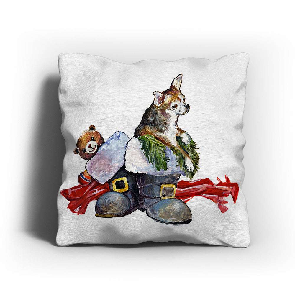 Merry Christmas Chihuahua Pillow