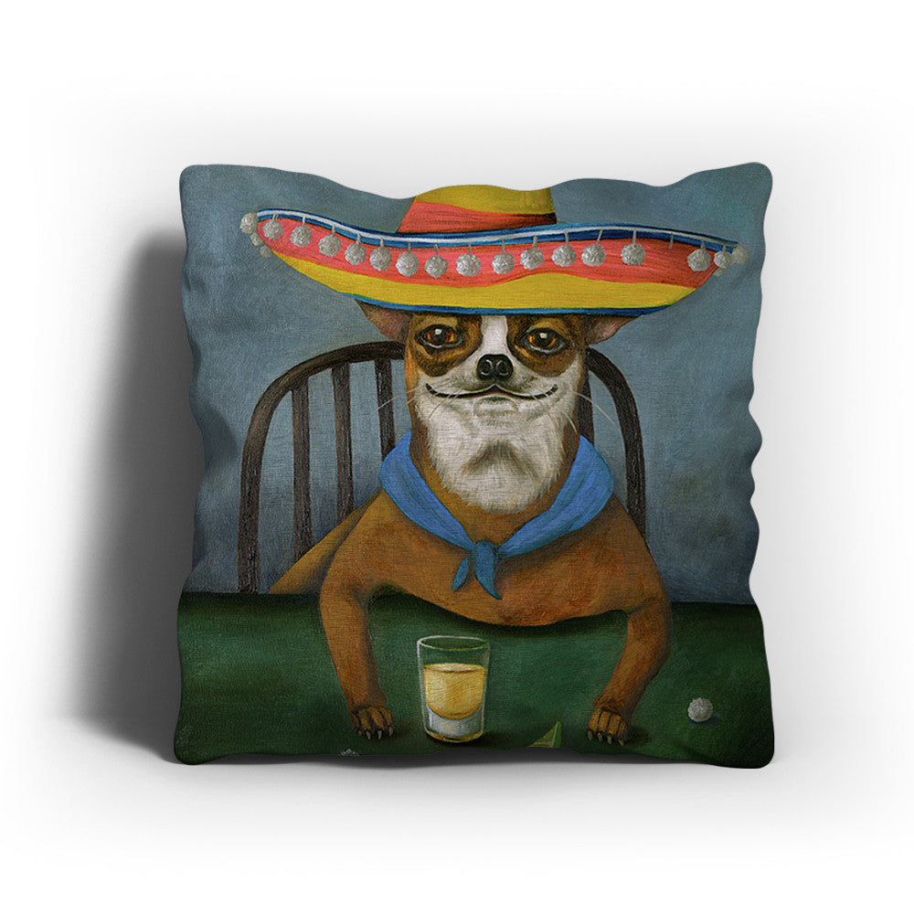 Chihuahua Painting Pillow
