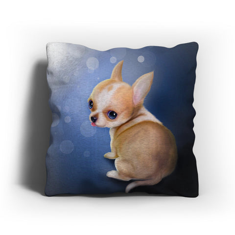 Lovely Chihuahua Puppy Painting Pillow