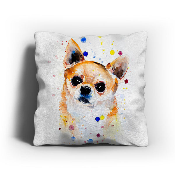 Watercolor Chihuahua Pillow