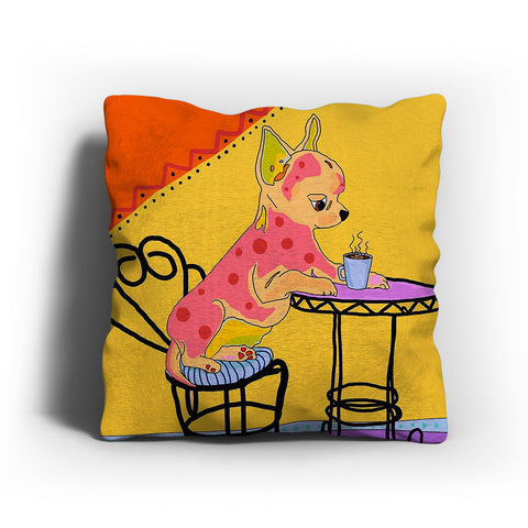 Chihuahua Modern Art Pillow