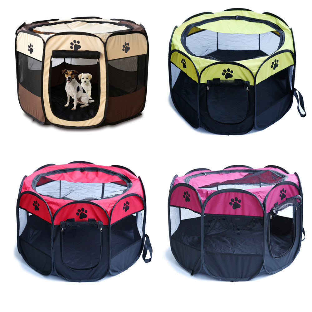 4 Colors Portable Folding Pet Tent Playpen