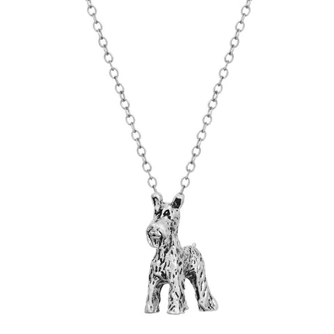 Famous Brand 3D Realistic Schnauzer Animal Dog Breed Charm Necklace Dog Breed Pendant